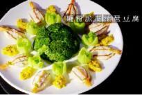 酒店大厨介绍一道应季创新菜品——蟹粉脆皮琵琶豆腐