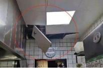 无妄之灾!厨房天花板突然脱落,厨师当场被砸倒地!