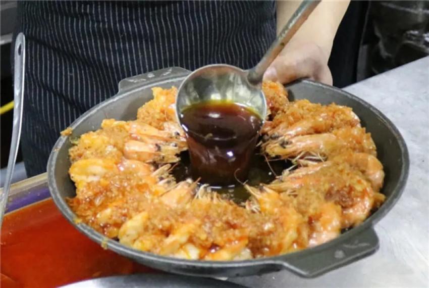 【创新菜】豉汁蒜蓉酱焗虾