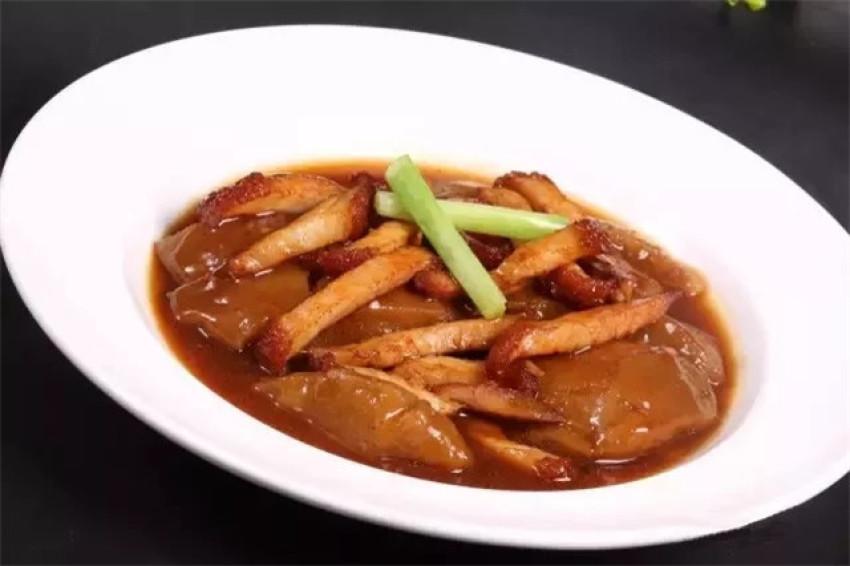 【粤菜】葱烧柚皮烧腩
